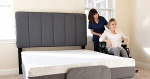 Home caregivers experience an easier time providing care with an adjustable bed.