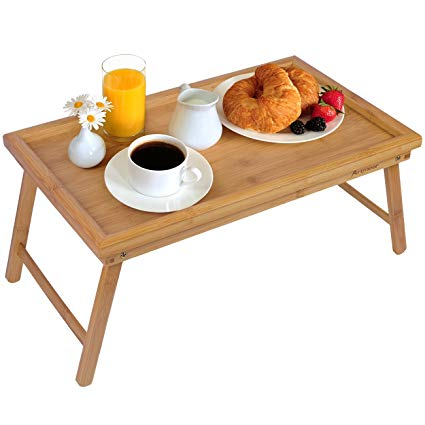 folding bed tray for adjustable bed